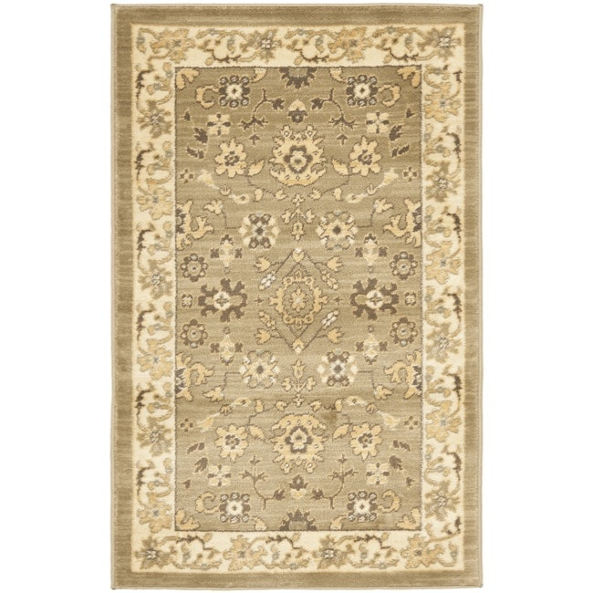 "Safavieh Oushak Green/Cream Oriental-Pattern Powerloomed Rug (2'6"" x 4')"