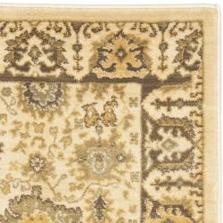 Safavieh Oushak Cream/ Brown Rug (2'6 x 4') - Thumbnail 1