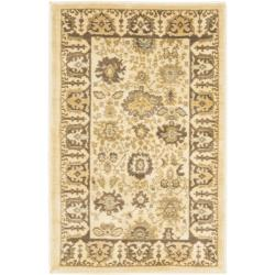 Safavieh Oushak Cream/ Brown Powerloomed Rug (2'6 x 4')