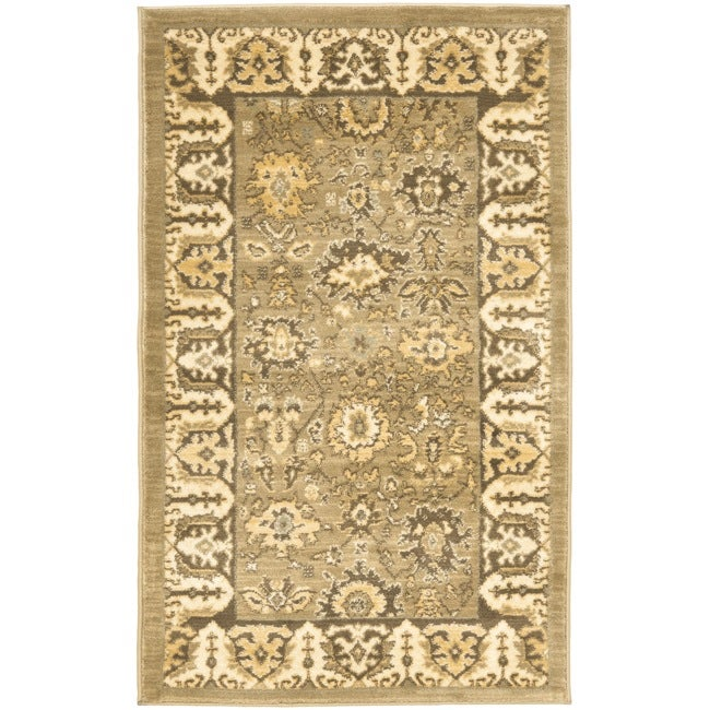 Safavieh Oushak Green/ Brown Rug (2'6 x 4')