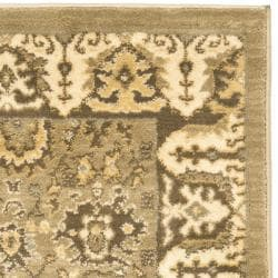 Safavieh Oushak Green/ Brown Rug (2'6 x 4') - Thumbnail 1