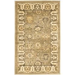 Safavieh Oushak Green/ Brown Powerloomed Rug (2'6 x 4')