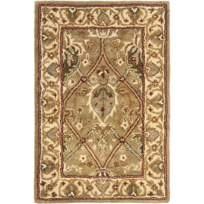 Safavieh Handmade Mahal Green/ Beige New Zealand Wool Rug (2' x 3')