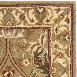 Safavieh Handmade Mahal Green/ Beige New Zealand Wool Rug (2' x 3') - Thumbnail 1