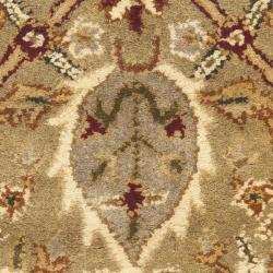 Safavieh Handmade Mahal Green/ Beige New Zealand Wool Rug (2' x 3') - Thumbnail 2