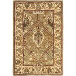 Safavieh Handmade Mahal Green/ Beige New Zealand Wool Rug (2' x 3')