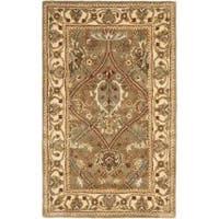 Safavieh Handmade Mahal Green/ Beige New Zealand Wool Rug - 2'6 x 4'