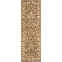 Safavieh Handmade Mahal Green/ Beige New Zealand Wool Rug (2'6 x 10')