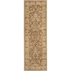 Safavieh Handmade Mahal Green/ Beige New Zealand Wool Rug (2'6 x 8')