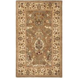 Safavieh Handmade Mahal Green/ Beige New Zealand Wool Rug (3' x 5')