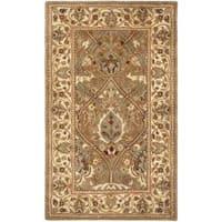 Safavieh Handmade Mahal Green/ Beige New Zealand Wool Rug - 3' x 5'