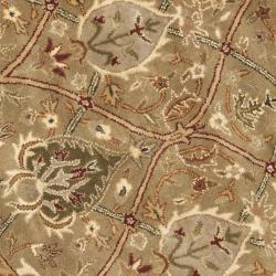 Safavieh Handmade Mahal Green/ Beige New Zealand Wool Rug (3'6 Round)