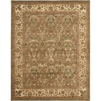 Safavieh Handmade Mahal Green/ Beige New Zealand Wool Rug - 6' x 9'