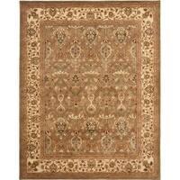 Safavieh Handmade Mahal Green/ Beige New Zealand Wool Rug - 6' x 9'