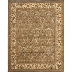 Safavieh Handmade Mahal Green/ Beige New Zealand Wool Rug (7'6 x 9'6)