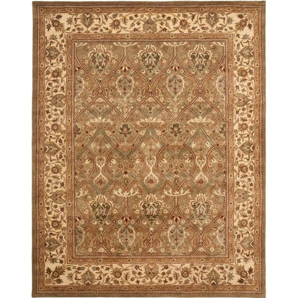 "Safavieh Handmade Mahal Green/ Beige New Zealand Wool Rug - 7'6"" x 9'6"""
