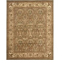 Safavieh Handmade Mahal Green/ Beige New Zealand Wool Rug - 8'3 x 11'