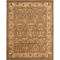 "Safavieh Handmade Mahal Green/ Beige New Zealand Wool Rug - 8'-3"" x 11'"