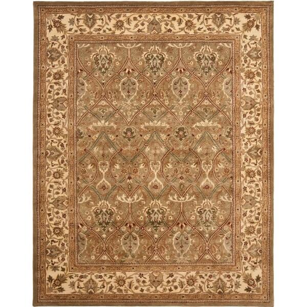 "Safavieh Handmade Mahal Green/ Beige New Zealand Wool Rug - 8'-3"" x 11'"
