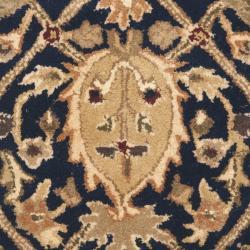 Safavieh Handmade Mahal Blue/ Gold New Zealand Wool Rug (2' x 3') - Thumbnail 2