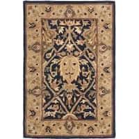 Safavieh Handmade Mahal Blue/ Gold New Zealand Wool Rug - 2'6 x 4'