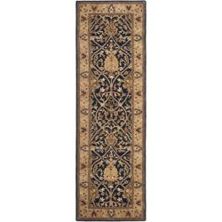 Safavieh Handmade Mahal Blue/ Gold New Zealand Wool Rug (2'6 x 12')