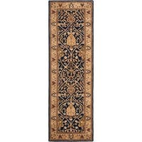 "Safavieh Handmade Mahal Blue/ Gold New Zealand Wool Rug - 2'6"" x 12'"