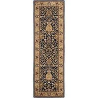 "Safavieh Handmade Mahal Blue/ Gold New Zealand Wool Rug - 2'6"" x 8'"