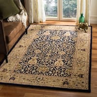 Safavieh Handmade Mahal Blue/ Gold New Zealand Wool Rug - 9'6 x 13'6