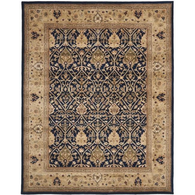 Safavieh Handmade Mahal Blue/ Gold New Zealand Wool Rug (6' x 9')