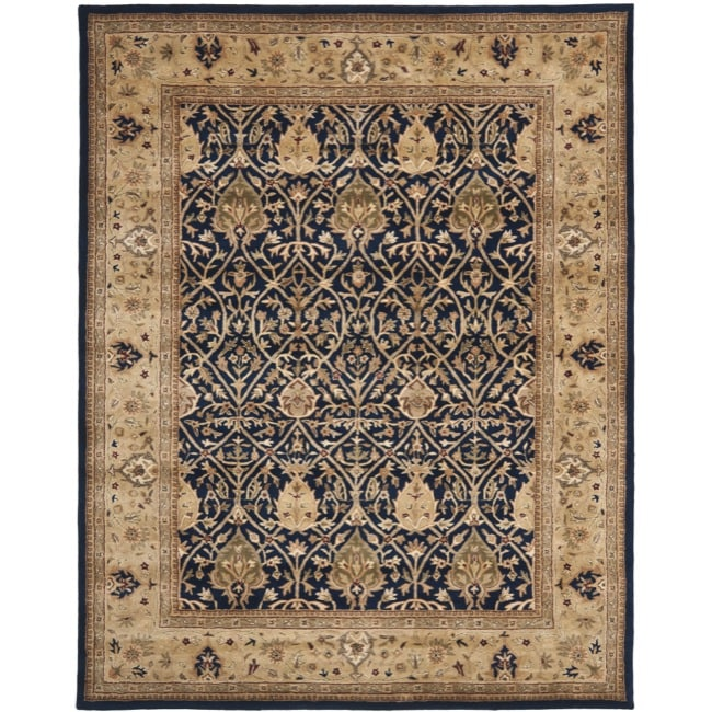 Safavieh Handmade Mahal Blue/ Gold New Zealand Wool Rug (8'3 x 11')