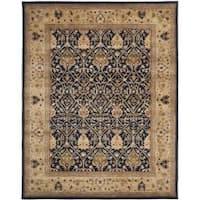 Safavieh Handmade Mahal Blue/ Gold New Zealand Wool Rug (8'3 x 11')