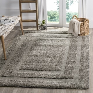 Safavieh Shadow Box Ultimate Grey Shag Rug (6' 7 Square)