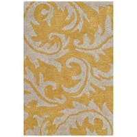 Safavieh Handmade Soho Gold/ Ivory New Zealand Wool Rug - 2' X 3'