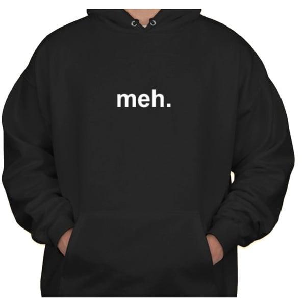 Branded Bargains Men's 'Meh' Black Hoodie