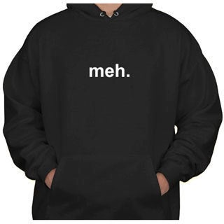 Branded Bargains Men's 'Meh' Black Hoodie