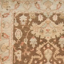 Hand-knotted Raton Brown New Zealand Wool Rug (5'6 x 8'6)