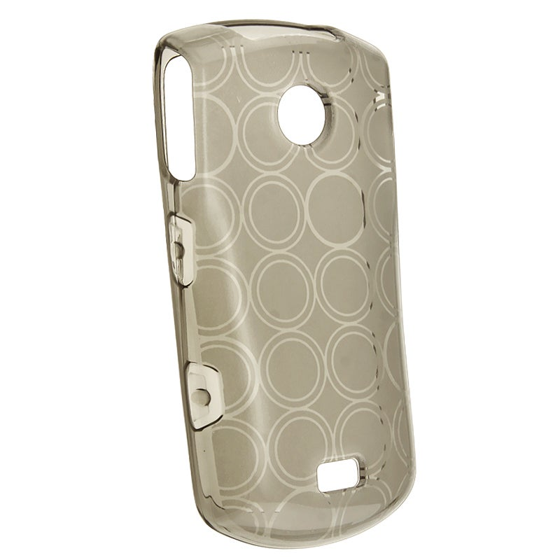 INSTEN Clear Smoke Circle TPU Rubber Skin Phone Case Cover for Samsung Monte S5620
