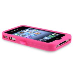 Pink Penguin Silicone Skin Case for Apple iPhone 4/ 4S - Thumbnail 2