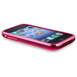 Hot Pink Flower/ Butterfly TPU Rubber Case for Apple iPhone 3G/ 3GS
