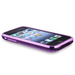 INSTEN Purple Flower/ Butterfly TPU Rubber Skin Phone Case Cover for Apple iPhone 3G/ 3GS