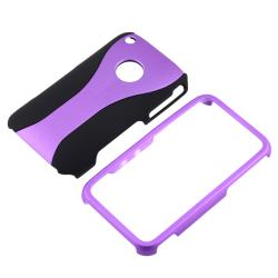 Purple/ Black Cup Shape Snap-on Case for Apple iPhone 3G/ 3GS - Thumbnail 1
