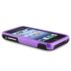Purple/ Black Cup Shape Snap-on Case for Apple iPhone 3G/ 3GS - Thumbnail 2