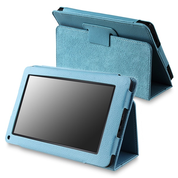 Blue Leather Case with Stand for Amazon Kindle Fire
