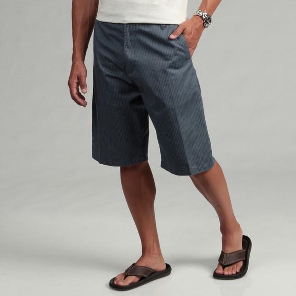 Burnside Men's Blue Striped Chino Shorts