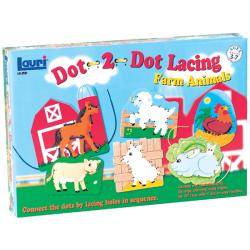 Patch Products-Smethport-Lauri Dot-2-Dot Farm Animals Lacing Kit
