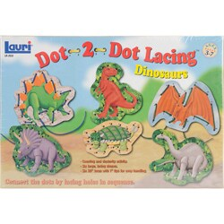 Patch Products-Smethport-Lauri Dot-2-Dot Dinosaurs Lacing Kit