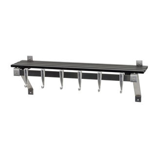 Concept Housewares Stainless Steel Charcoal Finish Wall Rack