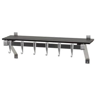 Concept Housewares Stainless Steel Espresso Finish Wall Rack