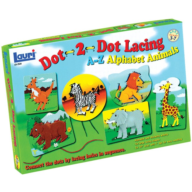 Patch Products-Smethport-Lauri Dot-2-Dot A-Z Animals Lacing Kit